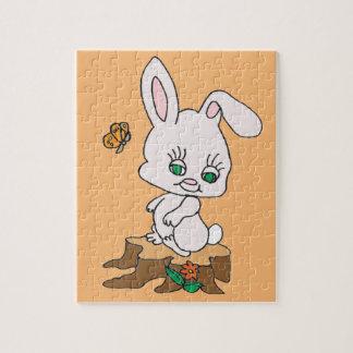 Rabbit Sitting on Stump Jigsaw Puzzle