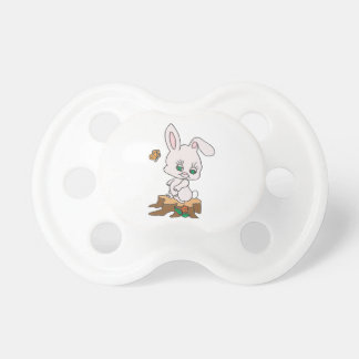 Rabbit Sitting on Stump Pacifier