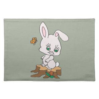 Rabbit Sitting on Stump Placemat