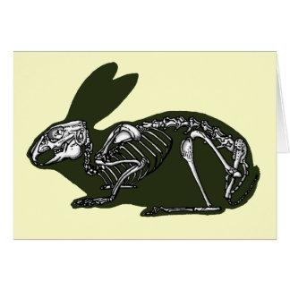 rabbit skeleton card