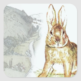 Rabbit Square Sticker