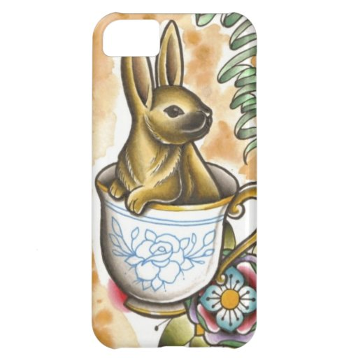 Rabbit Tea Party Case For iPhone 5C