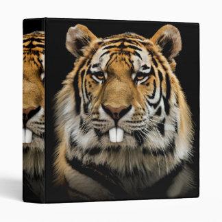 Rabbit tiger - tiger face - tiger head 3 ring binders