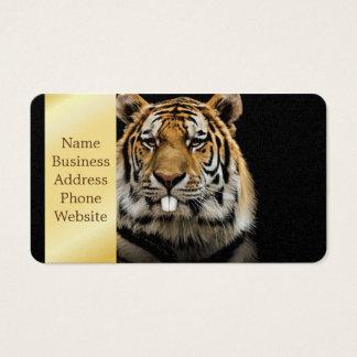 Rabbit tiger - tiger face - tiger head business card
