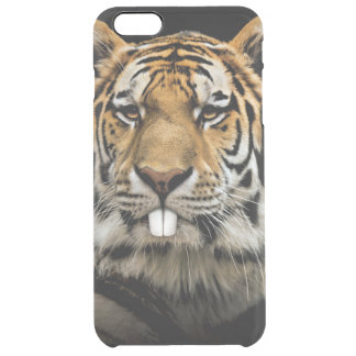 Rabbit tiger - tiger face - tiger head clear iPhone 6 plus case