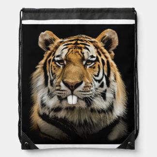 Rabbit tiger - tiger face - tiger head drawstring bag