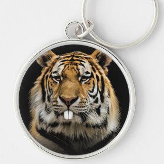 Rabbit tiger - tiger face - tiger head keychain