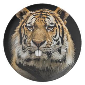 Rabbit tiger - tiger face - tiger head plate