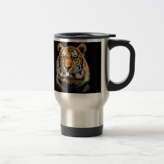 Rabbit tiger - tiger face - tiger head travel mug