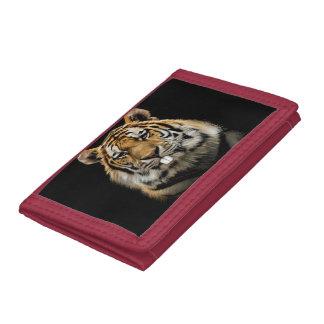 Rabbit tiger - tiger face - tiger head trifold wallet
