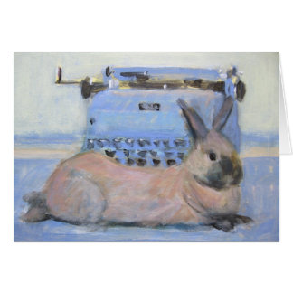 Rabbit & Typewriter Card
