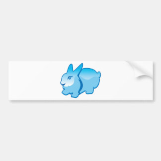 Rabbit vector bumper sticker