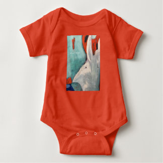 Rabbit We're All Mad Here Alice in Wonderland Baby Bodysuit
