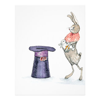 rabbit with hat letterhead