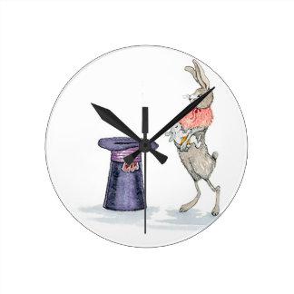 rabbit with hat wallclocks