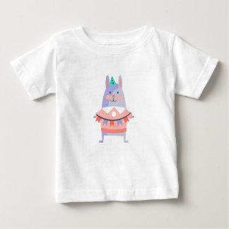 Rabbit With Party Attributes Girly Stylized Funky Baby T-Shirt