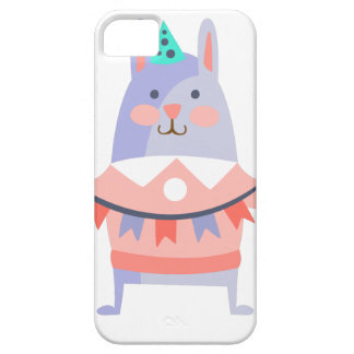 Rabbit With Party Attributes Girly Stylized Funky Case For The iPhone 5