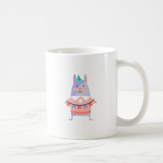 Rabbit With Party Attributes Girly Stylized Funky Coffee Mug