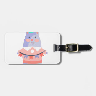 Rabbit With Party Attributes Girly Stylized Funky Luggage Tag