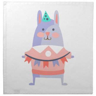 Rabbit With Party Attributes Girly Stylized Funky Napkin