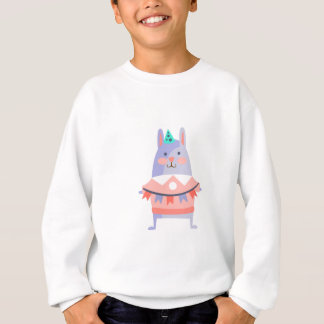 Rabbit With Party Attributes Girly Stylized Funky Sweatshirt