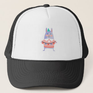 Rabbit With Party Attributes Girly Stylized Funky Trucker Hat