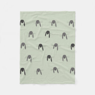 Rabbit Woodland Creature Fleece Blanket