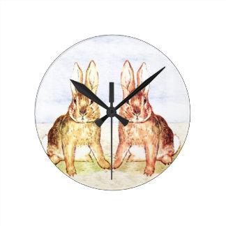 Rabbits Clock