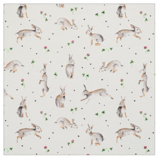 Rabbits & Clover | Holiday Easter | Fabric