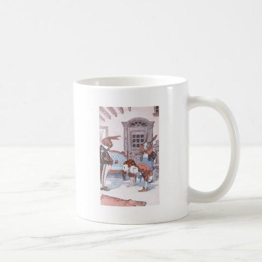 Rabbits Greet Guests Coffee Mug