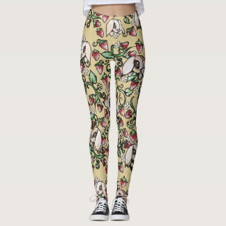 Rabbits in a Strawberry Patch Leggings