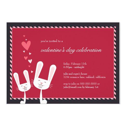 Rabbits in Love | Valentine's Party Invitation
