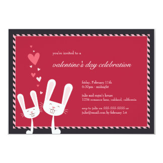 Rabbits in Love | Valentine's Party Invitation