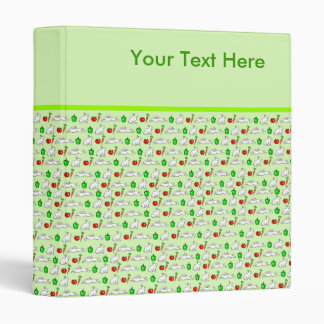 Rabbits in the Vegetables Cartoon Pattern 3 Ring Binder