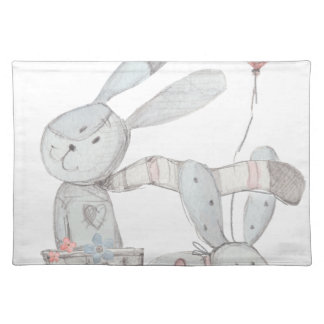rabbits placemat