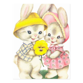 Rabbits Postcard