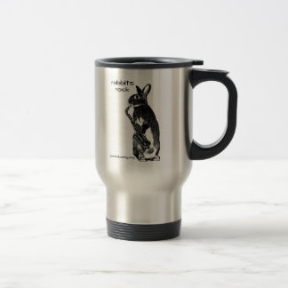 Rabbits Rock! Travel Mug
