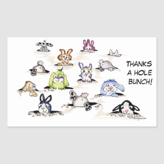 Rabbits: Thanks a Hole Bunch Sticker