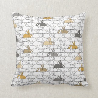 Rabbits Throw Pillow