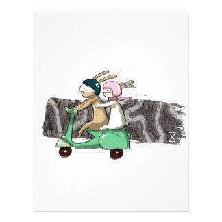 Rabbits travel custom letterhead