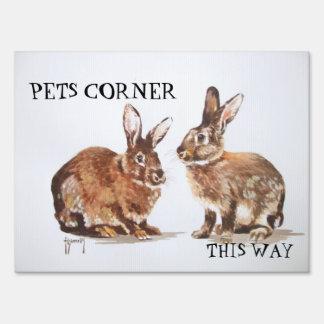 Rabbits Yard Sign