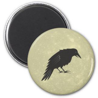 Rabe Mond raven moon 2 Inch Round Magnet
