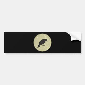Rabe Mond raven moon Bumper Sticker
