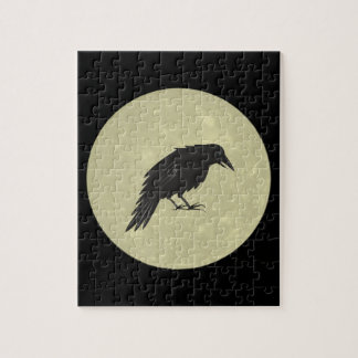 Rabe Mond raven moon Jigsaw Puzzle