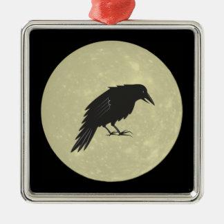 Rabe Mond raven moon Metal Ornament