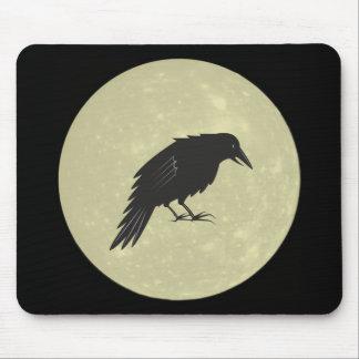 Rabe Mond raven moon Mouse Pad