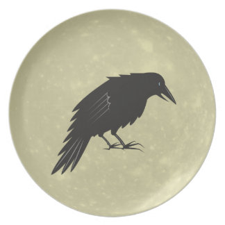 Rabe Mond raven moon Party Plate