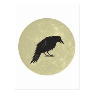 Rabe Mond raven moon Postcard