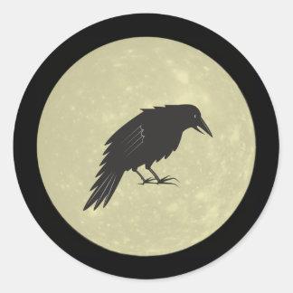 Rabe Mond raven moon Round Sticker