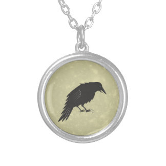 Rabe Mond raven moon Silver Plated Necklace